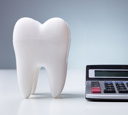 Large model tooth and calculator
