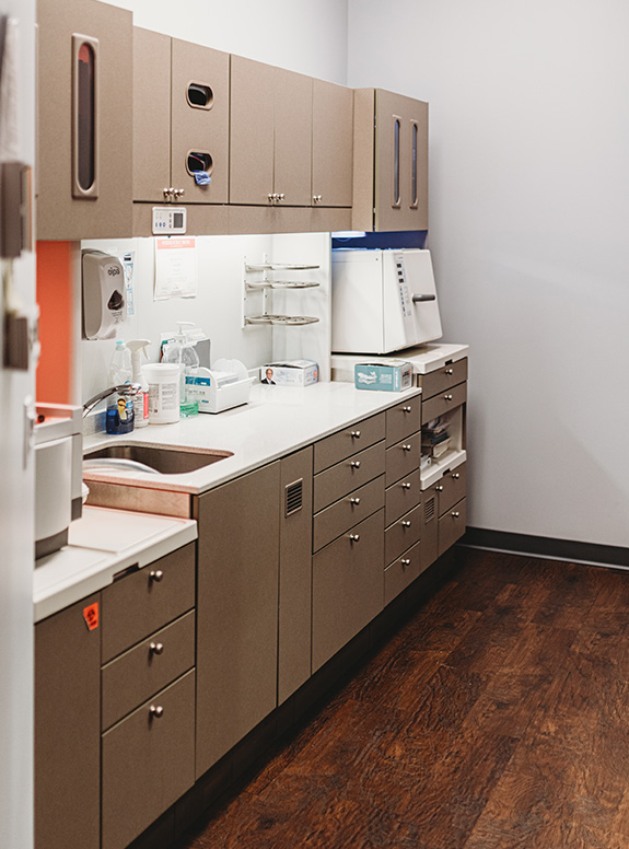 Dental lab and storage area